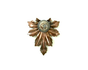 Steel and Agate Leaf Brooch: Chanson d'automne