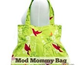 Mod Mommy Bag Sewing Pattern (A Diaper Bag, General Tote or Weekender Bag with Pleats & Double Straps)