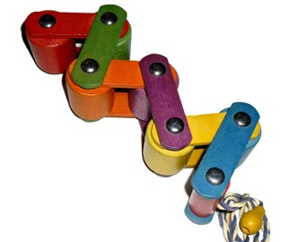 From Bauhaus to the Playhouse. Wooden Pull Toy. Play or Display.