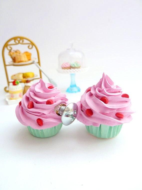 Drawer Knobs Fake Cupcake Set Of 2 Cabinet Pull Drawer Pulls