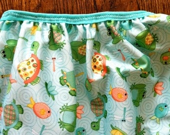 Cloth Diaper Pail Liner: Fish & Turtles 8 Gallon