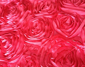 3 yards or 1 yard Photography rosette blanket or backdrop in Hot Pink Fuchsia on sale. All ends are completely finished to prevent frays