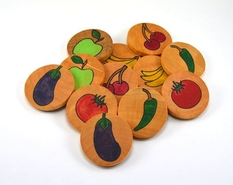 Memory Game Montessori Fruit and Vegetables