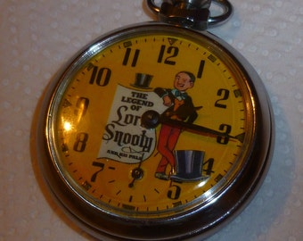 Vintage The Beano Lord Snooty automaton character pocket watch