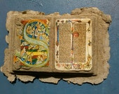 Illuminated Manuscript Handmade Paper Cast Sculpture