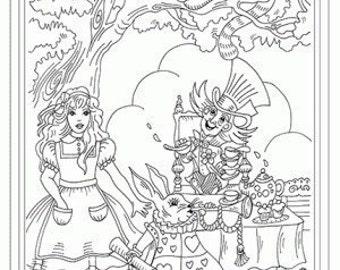 Alice in Wonderland Iron on Hand Embroidery Pattern (original design)