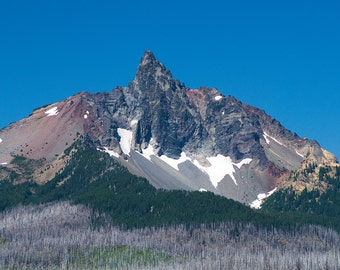 Mount Washington Oregon Fine art photography Mountain peak photography print Landscape photography Lava flow photo Mountain wall arttra