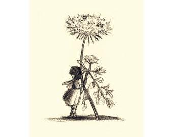 Print, Art Print, Nature Decor, Nature Art, Illustration, Illustration Print, Nursery Print, Botanical, Herbs, Flower Art, Wall Art