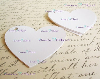 """90 Hearts Tags Size 3"""" -Hearts die cuts -Paper Hearts tags -Cardstock Hearts die cuts -Paper Hearts labels -Paper tags"""