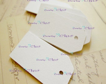"""275 Rectangle Tag 1""""x 2"""" -Paper Rectangle Labels -Cardstock Small Tags -Paper die cuts -Rectangle Paper Labels"""