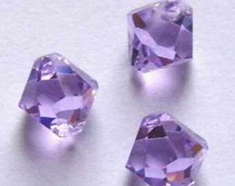 Swarovski elements Top-Drilled Bicone 6301 Pendants Violet --  Available in 6mm and 8mm