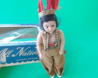 Vintage Indian Duchess Doll from Dolls of All Nations 1940-60s