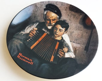 Vintage Norman Rockwell Collectors Plate The Music Maker