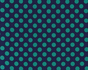 1/2 yard - Ta dot in midnight, Michael Miller Fabrics