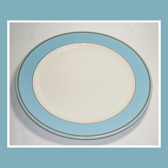 1940s Homer Laughlin Solitude Round Serving Platter 1940s