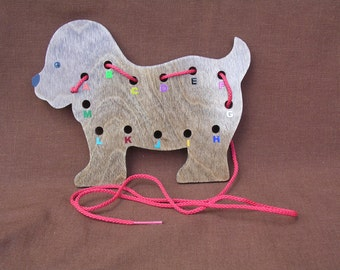 Lacing/Sewing Card-Dog