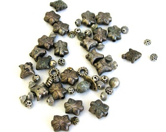 tribal ethnic silver metal  beads