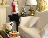 Dollhouse Miniature Santa For Your Christmas Decorations