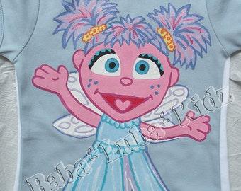 Hand Painted shirt sesame street handpainted size 6 12 18 24 2 3 4 5 6 ETSYKIDS Boutique custom