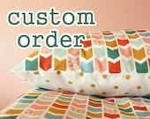 custom order for nicole... Twin sized sheet, pillowcase, blanket.