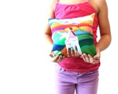Horizon of Hopes & Dreams Unicorn Pillow Chakra Energy Healing Vivid Color Healing Spiritual-Girl