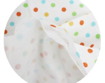 Orange Dots on Three Layers Gauze 150cm WIDE, U7167