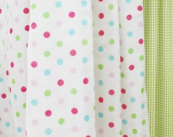 Pink Dots on Three Layers Gauze 150cm WIDE, U7169