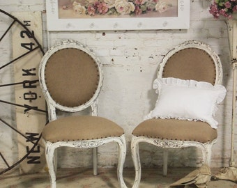 Painted Cottage Chic Shabby Farmhouse  Chair CHR47