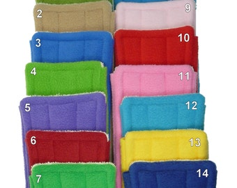 "1 to 6 FLEECE & TERRY Double Sided Reusable Swiffer Pads, EcoGreen Pads, washable Swiffer Sweeper pads, mop and dust, fits 10"" Swiffer mops"