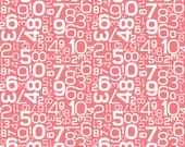 Gracie Girl Numbers in Pink from Riley Blake Designs by the Half Yard