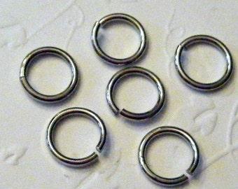 8 mm Gunmetal Jump Rings