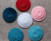 Frosted Sweets - Circles - 48 Die Cut Felt Circles