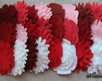 Strawberry Fields - Flower Power Pack - 180 Die Cut Wool Blend Felt Flowers