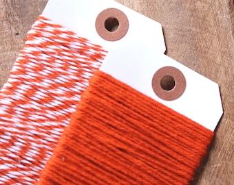 Orange Bakers Twine, Orange Twine, Cotton Twine, Halloween Twine, Gift Wrap, Baker's Twine, Orange String, Orange Packaging (15 yds)