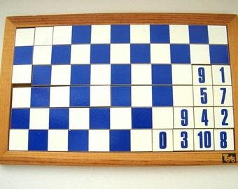 vintage wooden block puzzle-numbers and colors