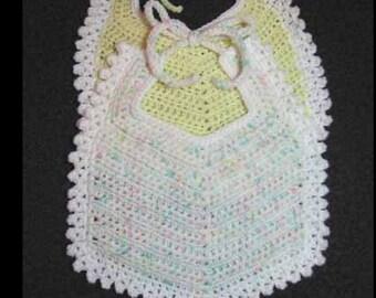 Crocheted Baby Bib Pattern - PDF 115