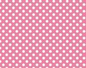 Riley Blake, Chevrons, Basic Small Dots in Pink, 1 yard