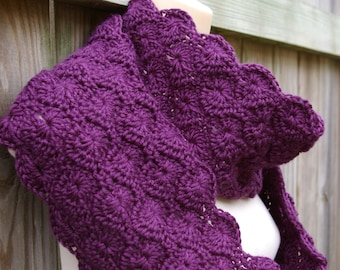 Instant Download Crochet Pattern Infinity Scarf, Circle Scarf, Cowl Scarf PDF