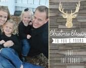 Glitter Deer Christmas Card