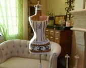 Vintage Inspired Dress Form Mannequin OOAK Wasp Waist  Paris Fashion Designer Handbag Love Bridal Gift Free Ship & Layaway Available