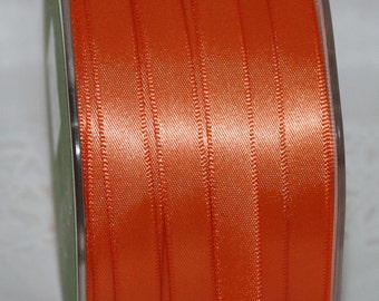 "Orange Satin Ribbon, 3/8"" wide by the yard, Halloween, Sewing, Gift Wrapping, Costumes, Sewing, Party Supplies, Weddings, Boutonierres"
