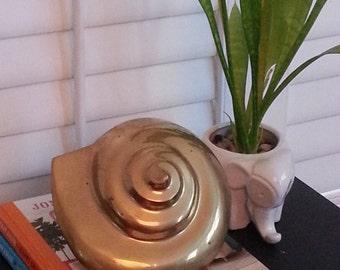 Vintage Brass Shell