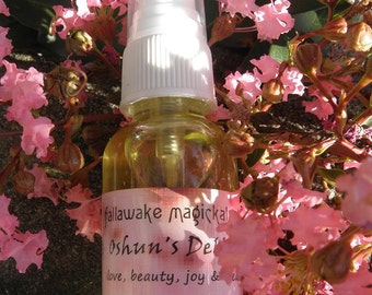 Oshun's Delight Magickal Ritual Mist Spray for Love, Beauty, Abundance, Joy, Wealth (1 oz)
