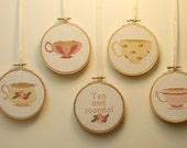 tea and scandal cross stitch pattern