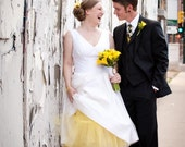 Wedding Neckties, Yellow and Black Necktie, Yellow Necktie, Mens Necktie