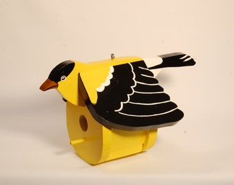 Gold Finch Birdhouse Free Shipping