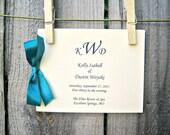 Side Ribbon Wedding Ceremony Program