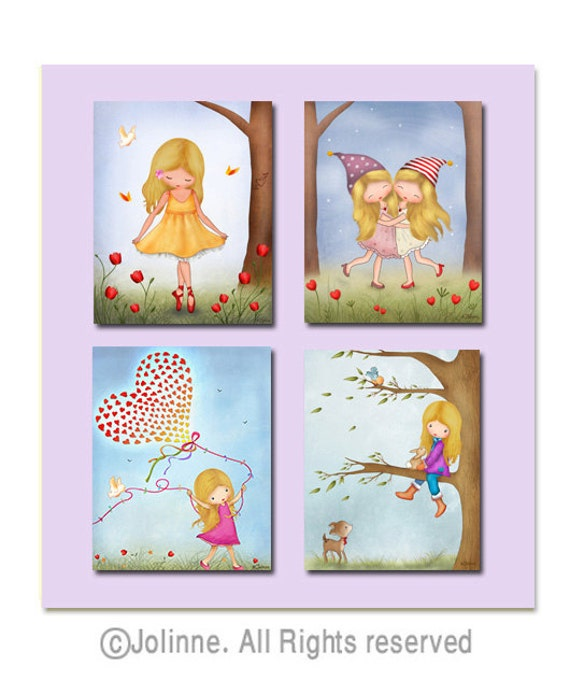 Sisters wall art sisters bedroom decor twins wall art kids for Hanging kids artwork
