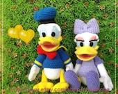 Donal duck and Daisy duck 8.5 inches - PDF amigurumi crochet pattern