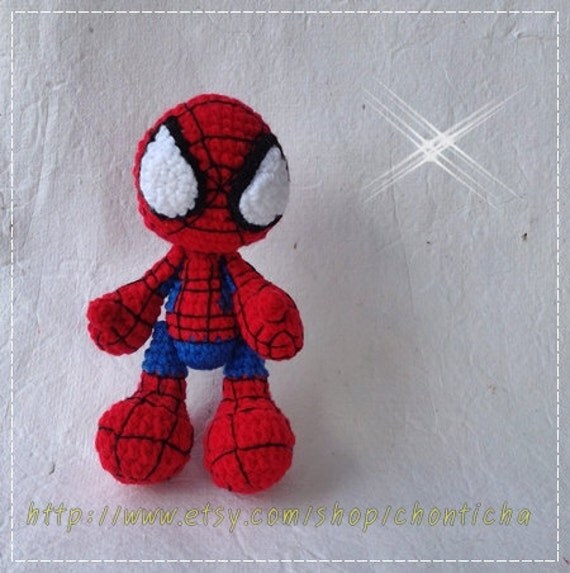 Free Amigurumi Spiderman Pattern : Spider 6 inches PDF amigurumi crochet pattern